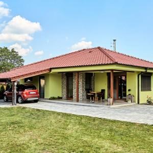 Nízkoenergetický rodinný dům postavený jako dřevostavba