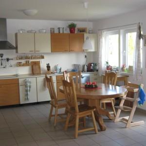 Kuchyň energeticky úsporného domu - dřevostavby v Olomouci