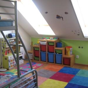 Dětský pokoj energeticky úsporného domu