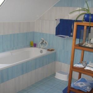 Koupelna nového domu - dřevostavby v Olomouci