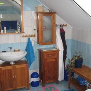 Koupelna rodinného domu - dřevostavby v Olomouci od firmy Bajulus